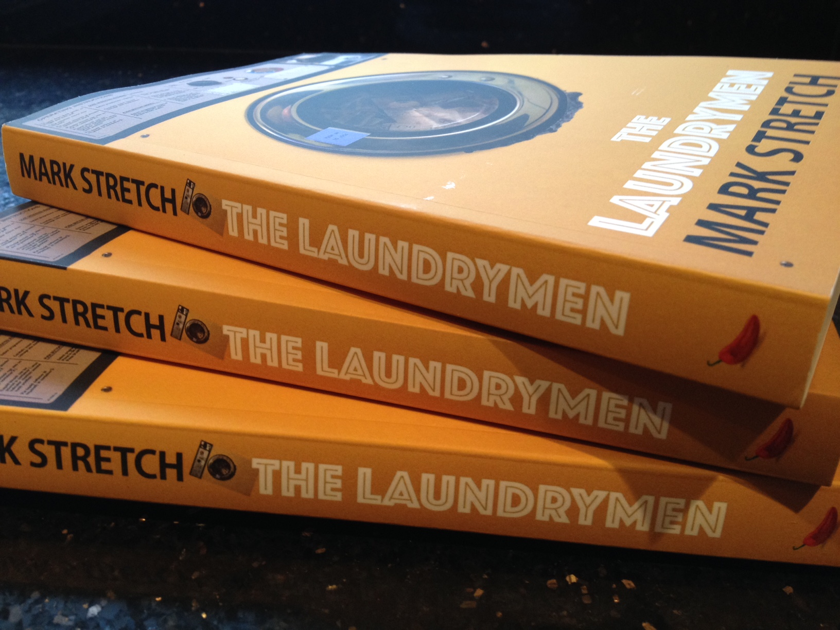 Proof copies of The Laundrymen have arrived.